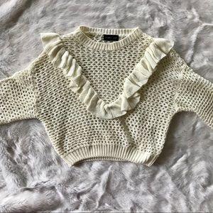 Sweaters - White Knit Sweater